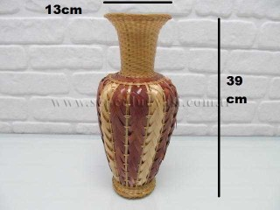 - sd14428 dekoratif hasır bambu vazo