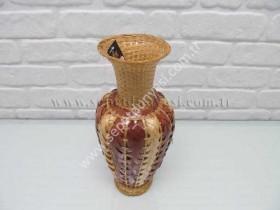sd14428 dekoratif hasır bambu vazo - Thumbnail