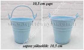 - sd18475 mavi metal galvaniz saksı (5410)