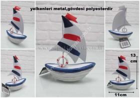 - sd21890 polyester gövdeli metal yelkenli