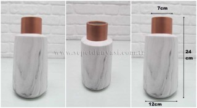 - sd22509 mermer desenli seramik vazo