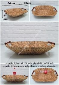- sd25858 tahta saplı oval hasır sepet