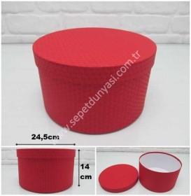 - sd26089 kırmızı renkli kabartma desenli no9 yuvarlak hediye&saklama kutusu