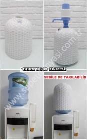 - sd26798 el örgüsü beyaz plastik damacana kılıfı (19lt)