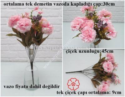 sd26905 yapay karanfil çiçeği demeti