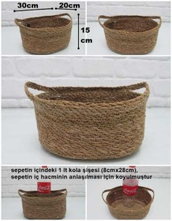 - sd31569 yandan saplı natural oval sepet no:1