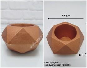 - sd31784 dekoratif beton çiçek saksısı