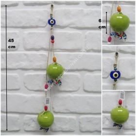 - sd33381 nazar boncuklu seramik seramik 2 li elma