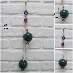 - sd33383 nazar boncuklu seramik seramik 2 li elma