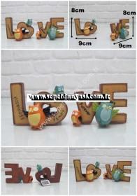 - sd33765 aşk temalı dekoratif baykuşlu biblo