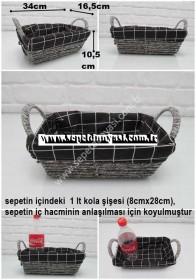 - sd34238 dekoratif no1 dikdörtgen kulplu kraft sepet