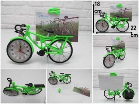 - sd34695 plastik bisiklet saat&fotoğraf çerçevesi