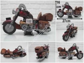 - sd34708 dekoratif motorsiklet kumbara biblo