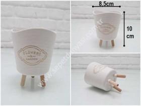 - sd35287 dekoratif plastik ayaklı mini saksı (kaktüs,skulent vs...)
