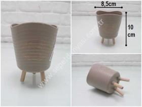 - sd35289 dekoratif plastik ayaklı mini saksı (kaktüs,skulent vs...)
