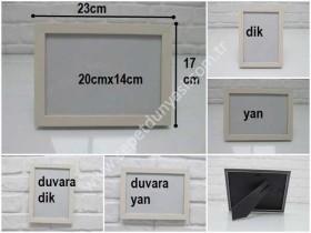 - sd35523 dekoratif krem plastik fotoğraf çerçevesi 15cmx20cm