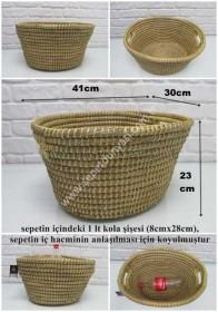 - sd7238 dekoratif oval hasır sepet no:1